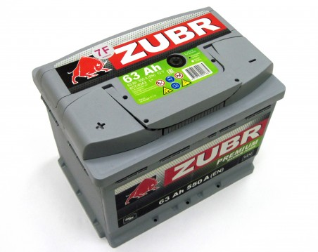 Аккумулятор 6СТ-63 ZUBR Premium 550A, R