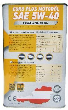 Масло моторное EURO PLUS Motorol 5W40 SN/CF (4дм) (John Greaves)