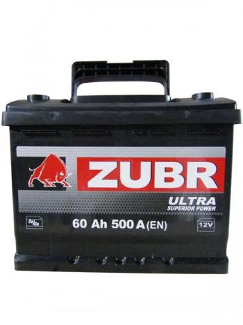 Аккумулятор 6СТ-60 ZUBR ULTRA 500A, R