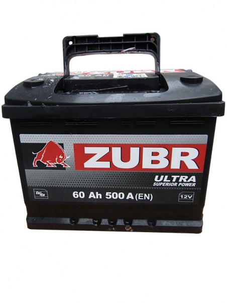 Аккумулятор 6СТ-60 ZUBR ULTRA 500A, L