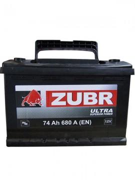 Аккумулятор 6СТ-74 ZUBR ULTRA 680А, L