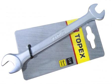 Ключ рожковый ХВ, 10x11мм (TOPEX FRA)