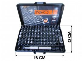 Набор головок торцевых с держателем (99шт) (NEO)