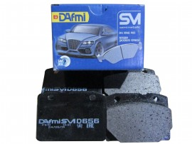 Колодка тормоза передняя (4шт) D656SM (пр-во Dafmi)