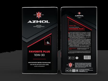 Масло моторное AZMOL FAVORITE PLUS 10W-40 (5дм/4.4кг)