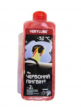 Жидкость стеклоомывающая (2л) -32С Красный Пингвин