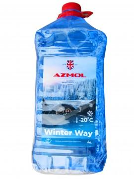 Жидкость стеклоомывающая зимняя -20 (синяя) (4дм3.6кг)