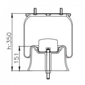 Пневморессора со стаканом 4022NP05
