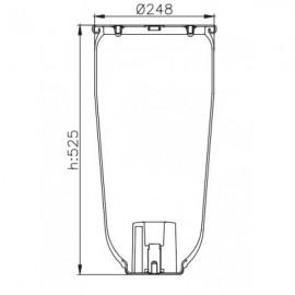 Пневморессора без стакана 4158NP02