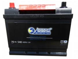 Аккумулятор залитый 540А (261х175х200/220, D26, 570 24)