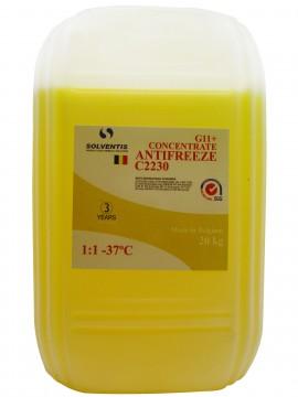 Антифриз концентрат Solventis (20 кг) жовтий G11 +