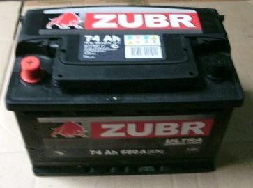 Аккумулятор 6СТ-74 ZUBR ULTRA 680А,R