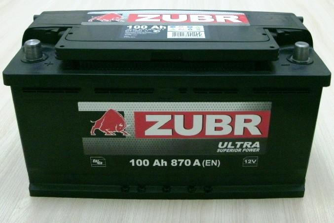Аккумулятор 6СТ-100 ZUBR ULTRA 870A,L