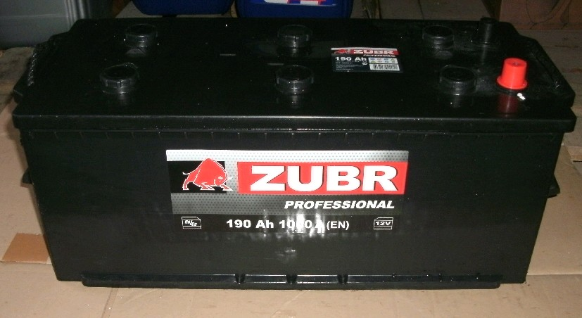 Аккумулятор 6СТ-190 ZUBR Pro. 1000A,R