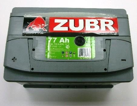 Аккумулятор 6СТ-77 ZUBR 720А, R