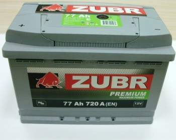 Аккумулятор 6СТ-77 ZUBR Premium 720А,L