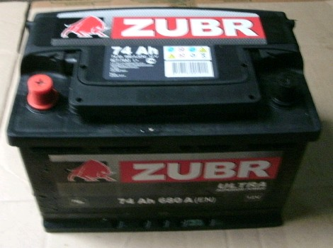 Аккумулятор 6СТ-74 ZUBR ULTRA 680А, R