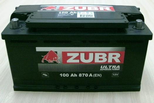 Аккумулятор 6СТ-100 ZUBR ULTRA 870A,R